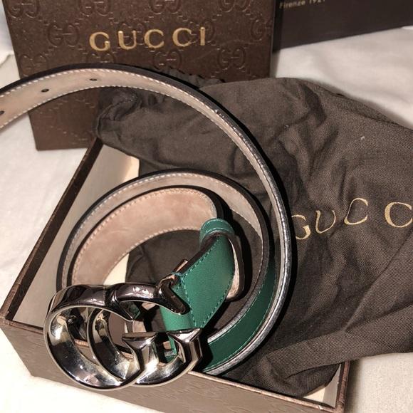 7aae57e856a Gucci Belt Green 362734 Size 34 US